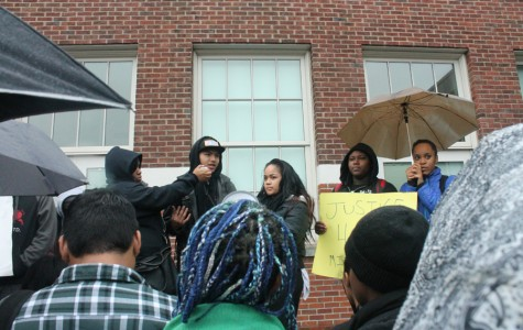 Cleveland students staged a walkout in response to the verdict in the Michael Brown shooting case.