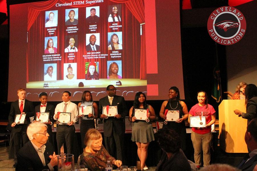 The PTSA honored 12 students, staff and community members for their commitment to Cleveland's STEM program.