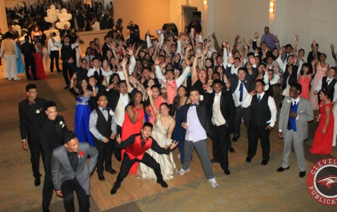 The Class of 2015 gathers for one last photo at Cleveland's Senior Prom on Saturday, May 23, at The Hall at Fauntleroy.