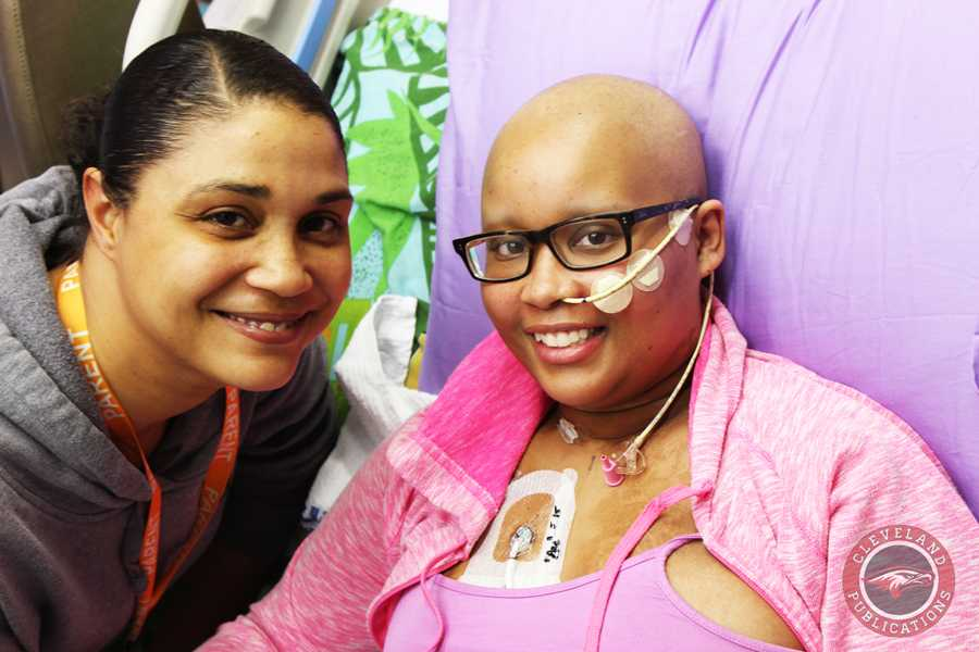 Senior Jade Bowen's mom, Kari Childs, left, spends every day at Seattle Children's Hospital as her daughter battles leukemia. Bowen was diagnosed in June and received a stem cell transplant on Nov. 12.