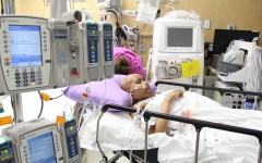 Worn out after undergoing another medical procedure, Jade Bowen returns to her hospital room. Bowen was diagnosed with leukemia last June and received a stem cell transplant in November. She is now cancer free, but the preparation for the transplant left her with acute kidney failure.