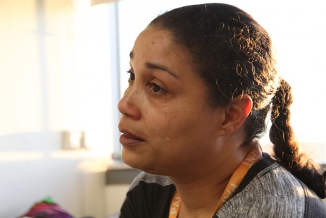 """Emotionally drained as she retells her daughter's story, Kari Child's sheds a tear while explaining what she's learned from her daughter Jade Bowen's bout with leukemia. """"I learned that Jade has a lot of perseverance. She's a strong girl; she's not going to give up. I'm not going to give up either."""""""