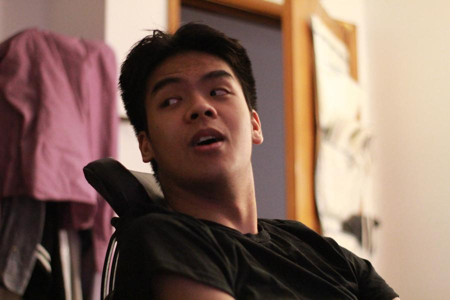 Senior Phong Ton was paralyzed in a car accident last year.