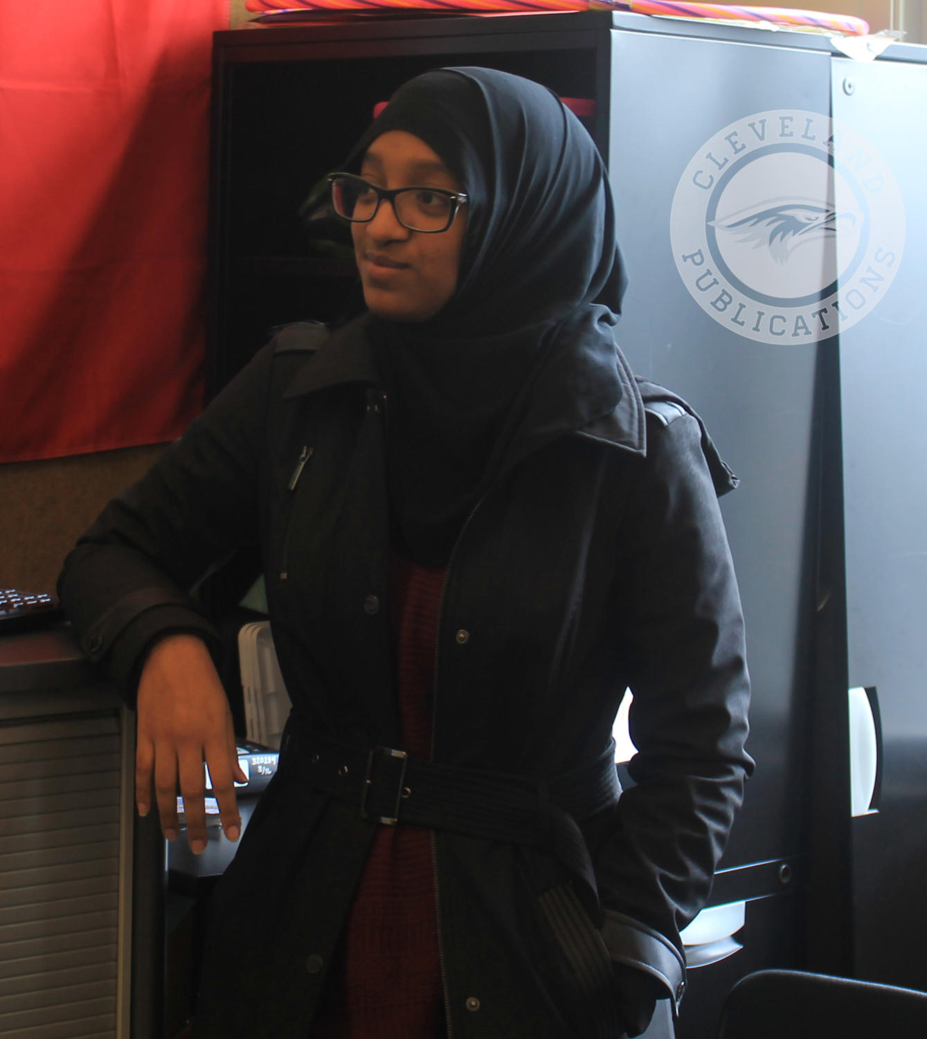 Zeynab Idris is the treasurer for the Green Team. The group focuses on composting and recycling to keep Cleveland's campus clean.