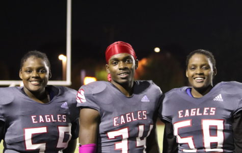 The Cannon siblings, Shadai, left, Jordan and Jade, burst on Cleveland's athlet- ic scene after transferring last spring. But Jade's performance on the field and in the weight room that made coaches take notice.