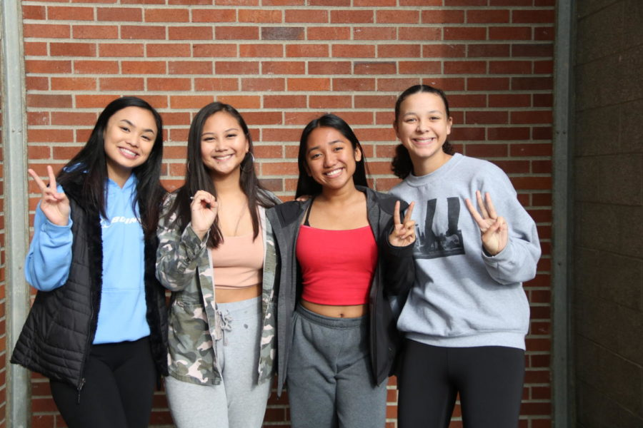 Who run the world? Girls. Freshman took to the polls on Nov. 1, to select its leaders from a predominantly female field of 11 candidates. The officers elected were secretary Danica Silvestre, left, president Justine Gallardo, vice president Jeliz Rapisura and treasurer Queen Hogan. Gallardo was elected with 50.3 percent of the vote.